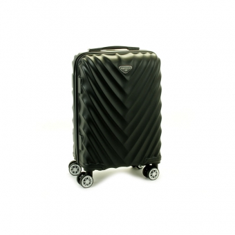 93503 Mała walizka podróżna na kółkach twarda - Madisson czarna