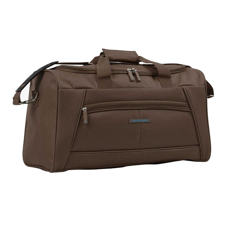 51170 Średnia torba podróżna materiałowa do ręki - Madisson brązowa