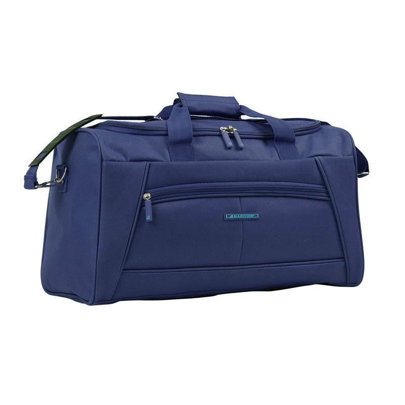 51170 Średnia torba podróżna materiałowa do ręki - Madisson granatowa