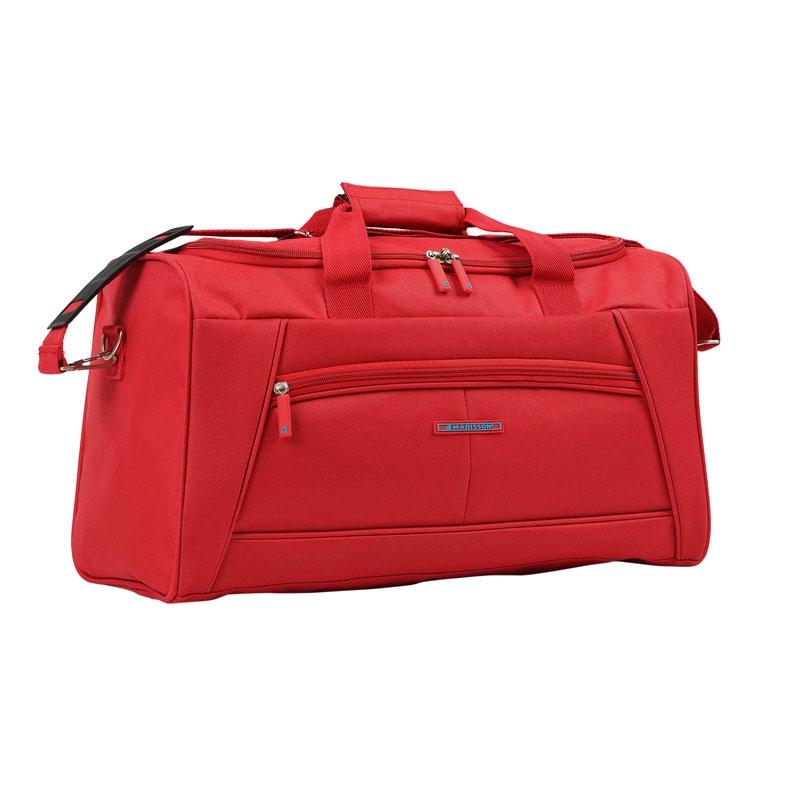 51170 Średnia torba podróżna materiałowa do ręki - Madisson czerwona