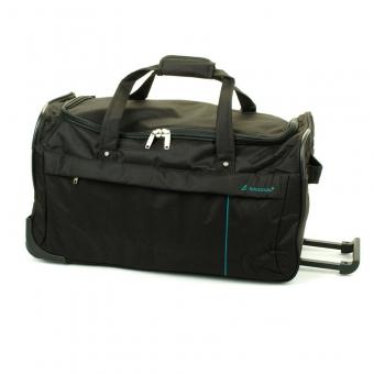 35762 Średnia torba podróżna na kółkach miękka - Madisson czarna
