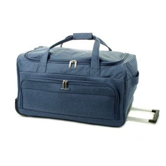 823/75 Duża torba podróżna na kółkach miękka 100l - Airtex niebieska