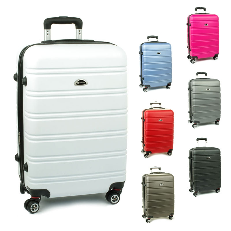 531 Duże walizki podróżne na czterech kółkach ABS - Airtex