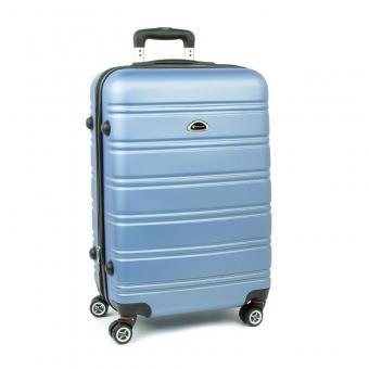 531 Duża walizka podróżna na czterech kółkach ABS - Airtex niebieska jasna