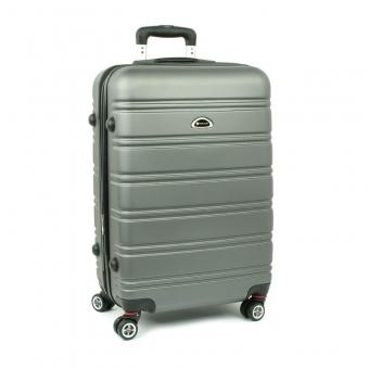 531 Średnia walizka podróżna na czterech kółkach ABS - Airtex stalowa szara