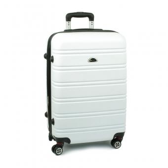 531 Średnia walizka podróżna na czterech kółkach ABS - Airtex biała