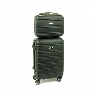 531/2 Zestaw mała walizka plus kosmetyczka podróżna - Airtex czarny