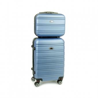 531/2 Zestaw mała walizka plus kosmetyczka podróżna - Airtex niebieski