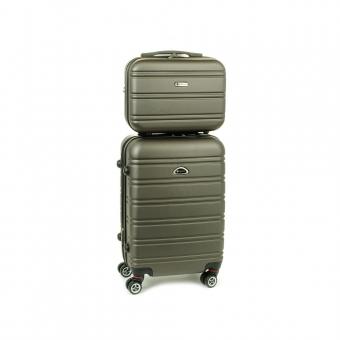 531/2 Zestaw mała walizka plus kosmetyczka podróżna - Airtex beżowy ciemny