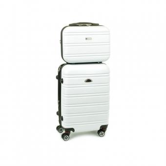 531/2 Zestaw mała walizka plus kosmetyczka podróżna - Airtex różowy