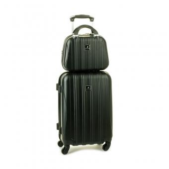 80002 Zestaw mała walizka plus kosmetyczka podróżna - Madisson czarny
