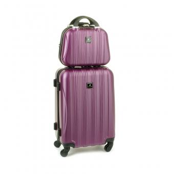 80002 Zestaw mała walizka plus kosmetyczka podróżna - Madisson fioletowy