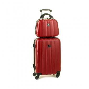 80002 Zestaw mała walizka plus kosmetyczka podróżna - Madisson bordowy