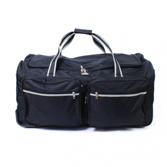 855 Bardzo duża torba podróżna na kółkach miękka 160 l - Airtex czarna
