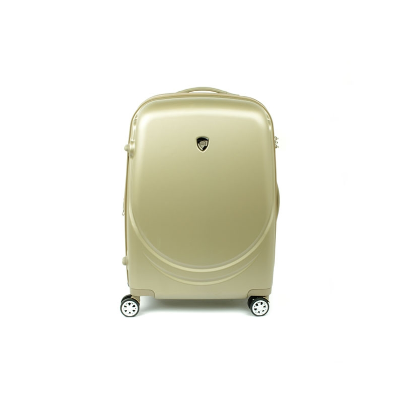 902 Duża walizka podróżna na kółkach z polikarbonu TSA - AIRTEX beżowa
