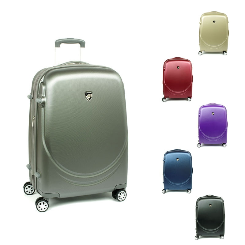 902 Duże walizki podróżne na kółkach z polikarbonu TSA - AIRTEX