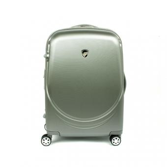 902 Średnia walizka podróżna na kółkach z polikarbonu TSA - AIRTEX stalowa szara