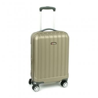 938/20 Mała walizka do samolotu kabinowa poliwęglan TSA - Airtex beżowa złota