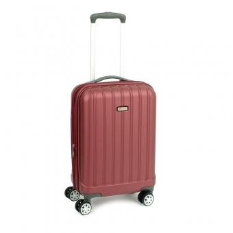 938/20 Mała walizka do samolotu kabinowa poliwęglan TSA - Airtex bordowa