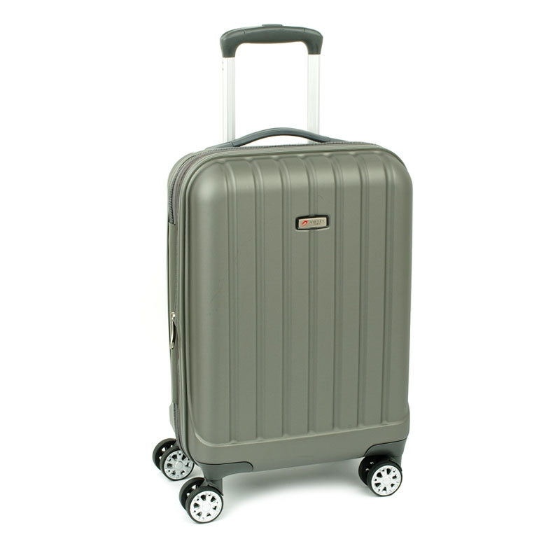 938/20 Mała walizka do samolotu kabinowa poliwęglan TSA - Airtex stalowa szara