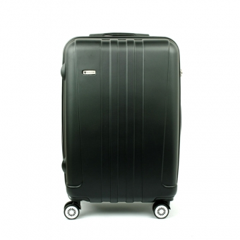 602 Mała walizka kabinowa na kółkach twarda ABS - Airtex czarna