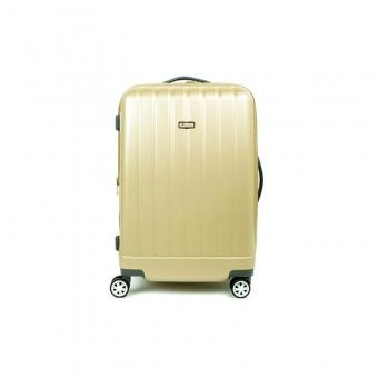 938 Duża walizka podróżna z poliwęglanu na kółkach TSA - Airtex beżowa