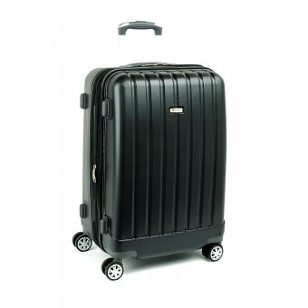 938 Duża walizka podróżna z poliwęglanu na kółkach TSA - Airtex czarna