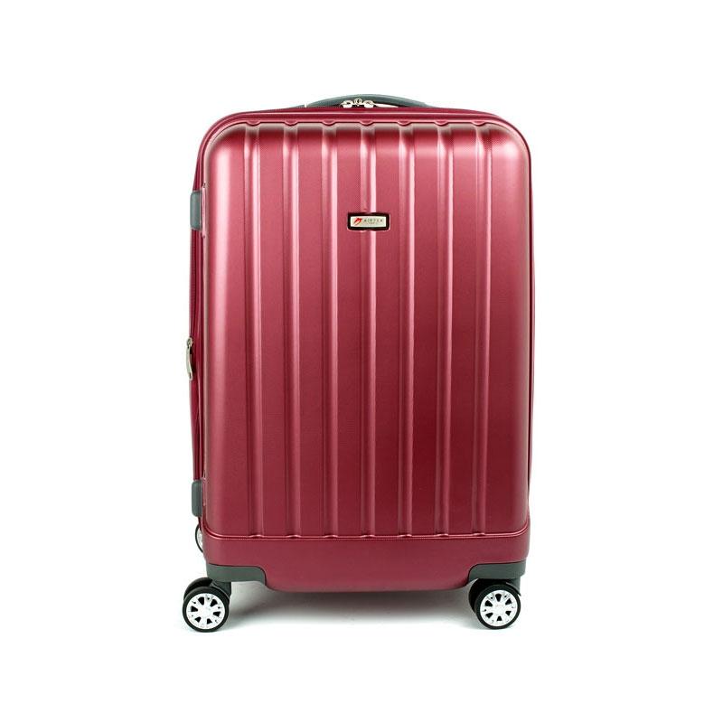 938 Duża walizka podróżna z poliwęglanu na kółkach TSA - Airtex bordowa