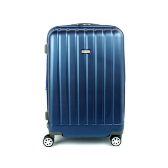 938 Duża walizka podróżna z poliwęglanu na kółkach TSA - Airtex granatowa