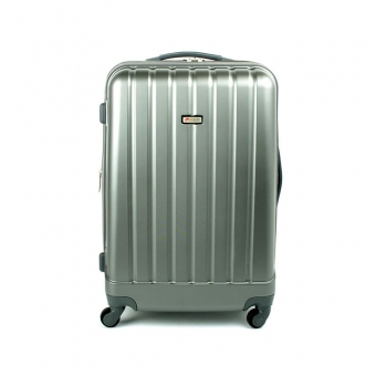 938 Duża walizka podróżna z poliwęglanu na kółkach TSA - Airtex stalowa szara