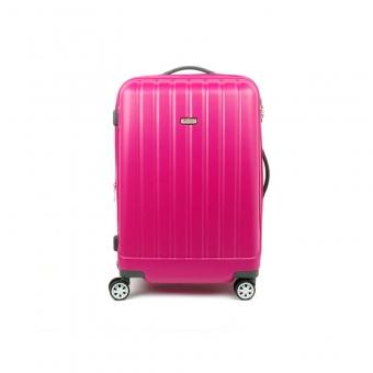 938 Duża walizka podróżna z poliwęglanu na kółkach TSA - Airtex różowa