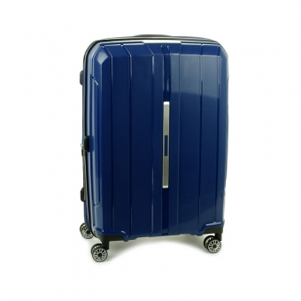83803 Duża walizka podróżna na kółkach polipropylen TSA - Snowball granatowa