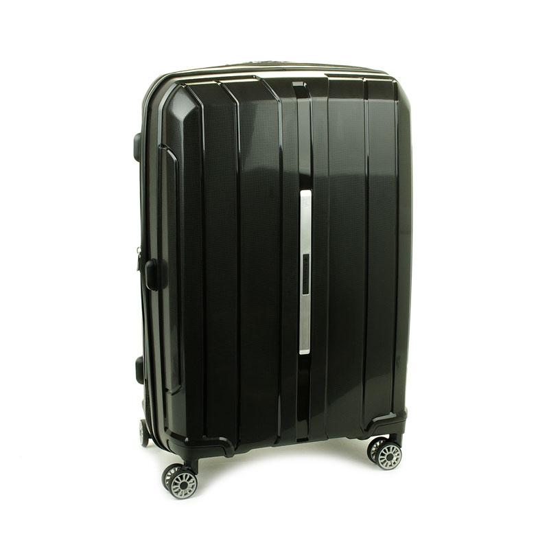 83803 Średnia walizka podróżna na kółkach polipropylen TSA - Snowball czarna