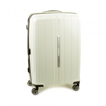 83803 Średnia walizka podróżna na kółkach polipropylen TSA - Snowball kremowa