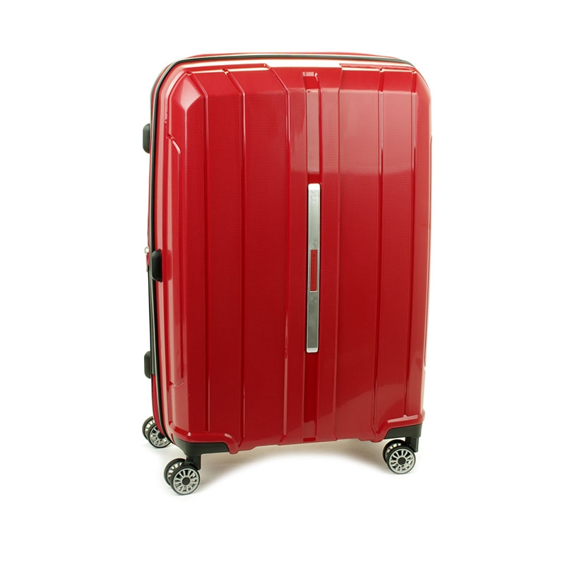 83803 Średnia walizka podróżna na kółkach polipropylen TSA - Snowball czerwona