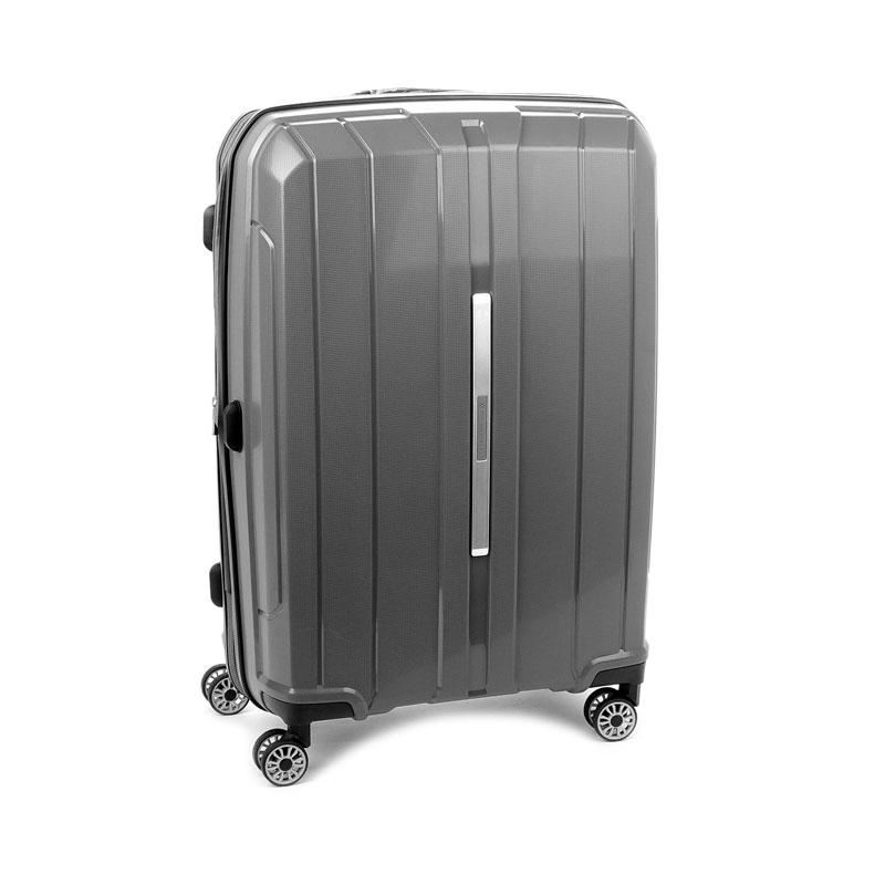 83803 Średnia walizka podróżna na kółkach polipropylen TSA - Snowball szara
