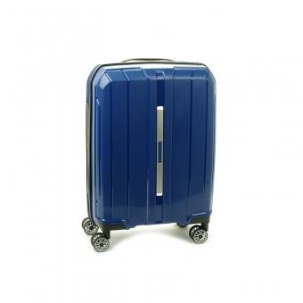 83803 Mała walizka podróżna kabinowa polipropylen TSA - Snowball granatowa