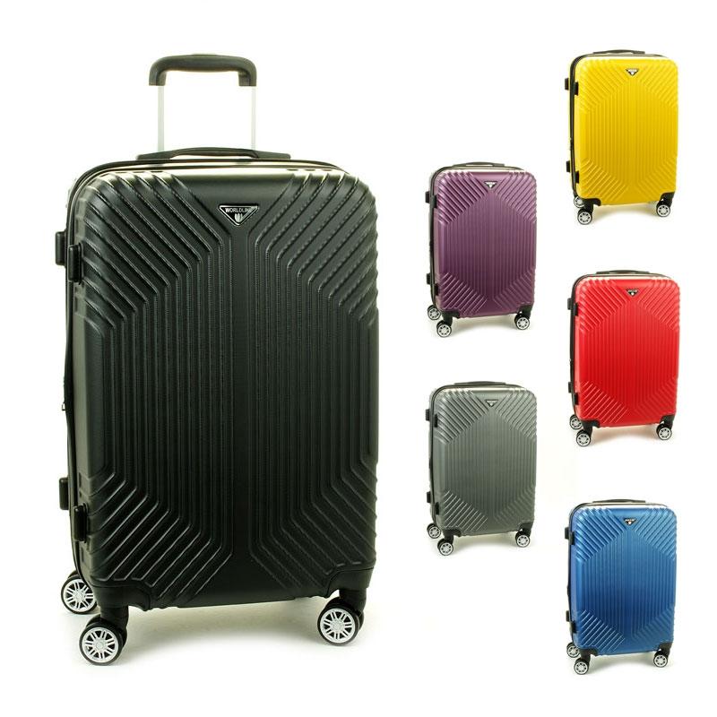 627 Duże walizki podróżne na kółkach twarde ABS+PC - Worldline