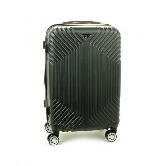 627 Średnia walizka podróżna na kółkach twarda ABS+PC - Worldline czarna