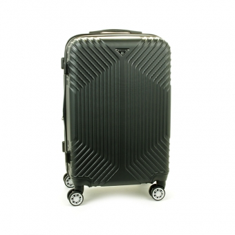 627 Mała walizka podróżna kabinowa twarda ABS+PC - Worldline czarna