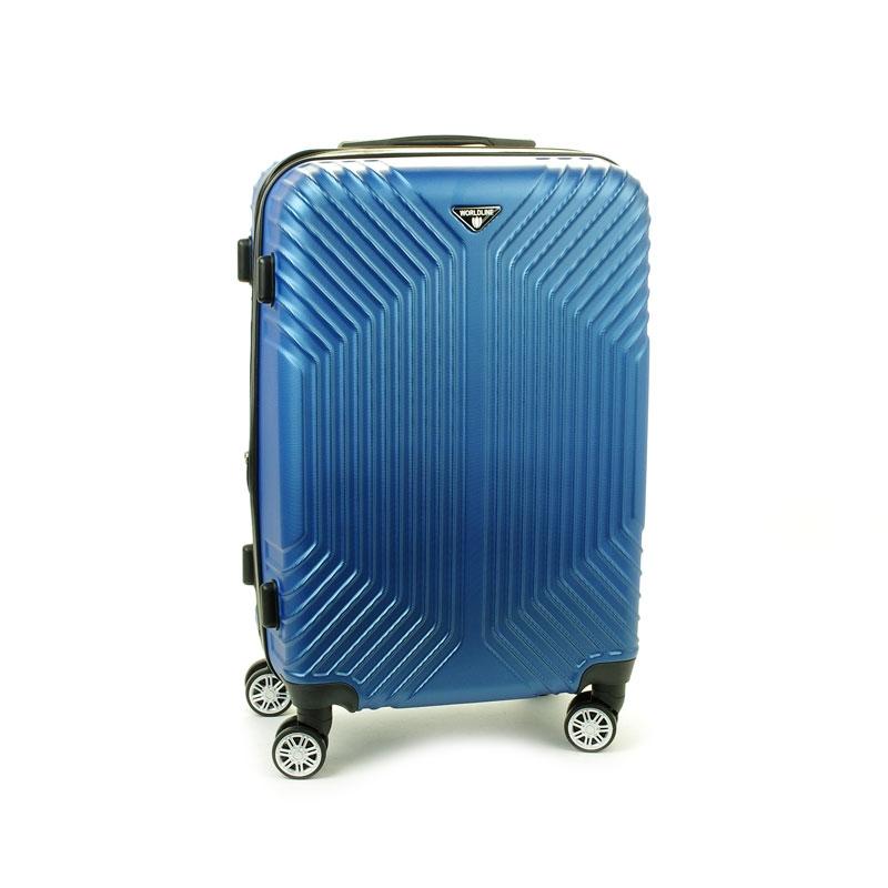 627 Mała walizka podróżna kabinowa twarda ABS+PC - Worldline niebieska