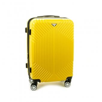 627 Mała walizka podróżna kabinowa twarda ABS+PC - Worldline żółta