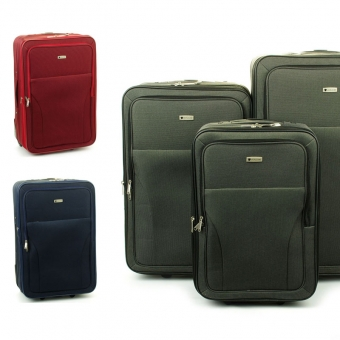 515 Komplet walizek podróżnych na kółkach materiałowych - Madisson
