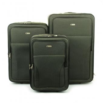 515 Komplet walizek podróżnych na kółkach materiałowych - Madisson szary
