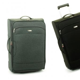 523 Bardzo duże walizki podróżne na kółkach XL z materiału - Madisson