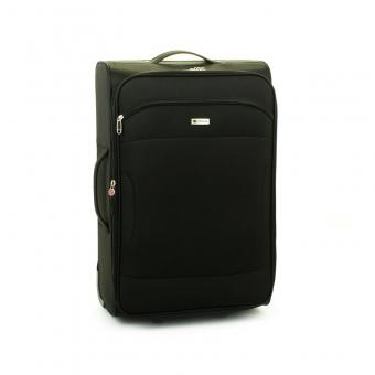 523 Duża walizka podróżna na kółkach z materiału - Madisson czarna