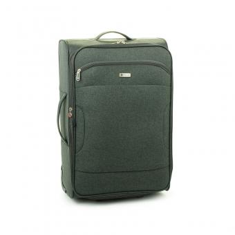 523 Duża walizka podróżna na kółkach z materiału - Madisson szara