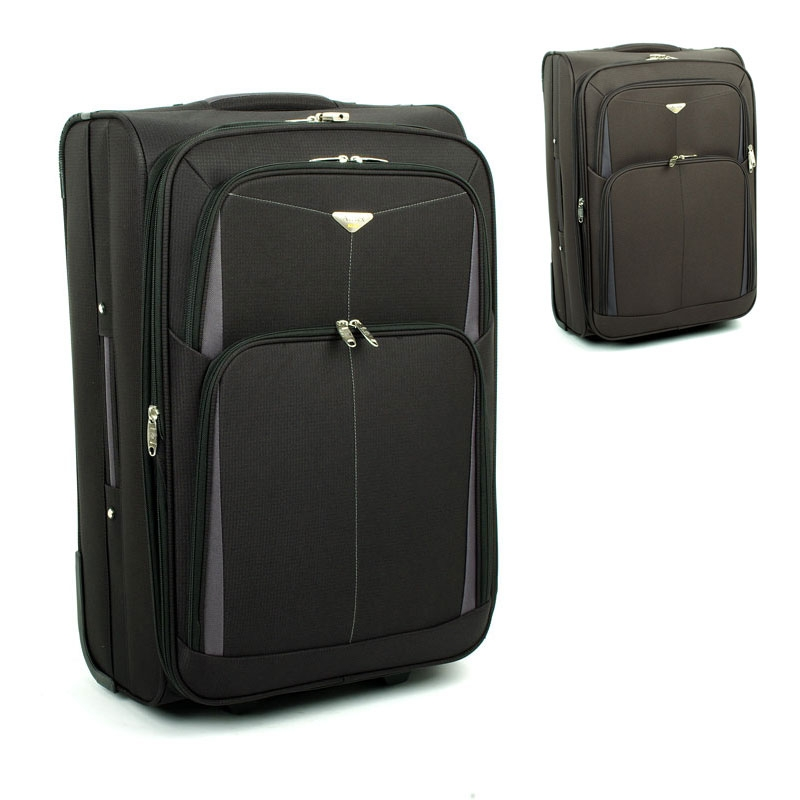 9090 Bardzo duże walizki podróżne na kółkach XL z materiału - Airtex