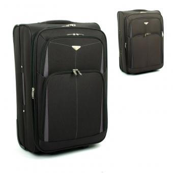 9090 Duże walizki podróżne na kółkach z materiału - Airtex