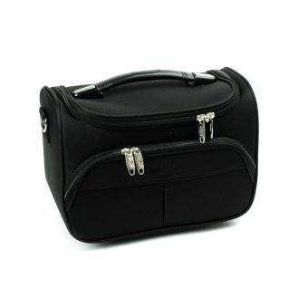 Duży kuferek na kosmetyki, kosmetyczka podróżna - Airtex 2897VA czarny